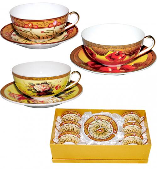 Набор чайный Silva Bowl Gold 200мл 12 предметов