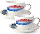 """Чайный сервиз """"Феникс"""" 280мл на 6 персон, фарфоровый"""