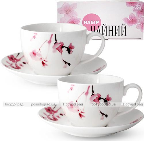 """Чайный сервиз """"Идиллия"""" 280мл на 6 персон, фарфоровый"""