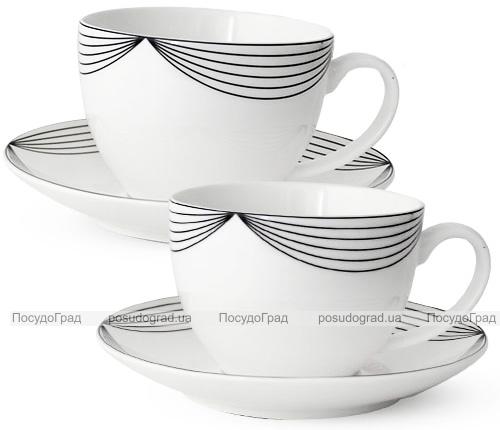 """Чайный сервиз """"Жардин"""" 280мл на 6 персон, фарфоровый"""