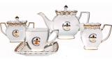 """Чайно-кофейный сервиз """"Золотая Лилия"""" 15 предметов на 6 персон, фарфор, 230мл"""