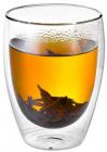 Склянка Lorenza 350мл з подвійними стінками, скляний термостакан