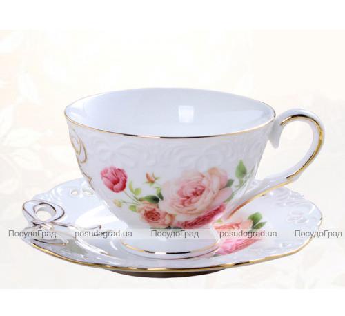"""Чайная пара """"Бант"""" чашка 220мл с блюдцем"""