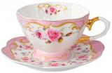 """Чайная пара """"Екатерина"""" чашка 260мл и блюдце, на 1 персону"""