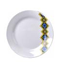 "Набор 6 десертных тарелок ""Вышиванка желто-голубой ромб"" Ø17.5см"