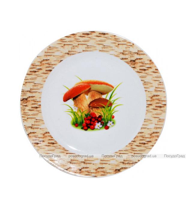 """Набор 6 десертных тарелок """"Грибочки"""" Ø17.5см"""
