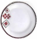 """Набор 6 мелких тарелок """"Вышиванка красное и черное"""" Ø23см"""