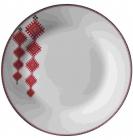 """Набор 6 мелких тарелок """"Вышиванка красный ромб"""" Ø23см"""