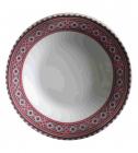 """Набор 6 суповых тарелок """"Вышиванка красное и черное"""" Ø20.5см"""