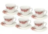 """Набор чашек для чая """"Ветка Сакуры"""" 190мл на 6 персон, стеклокерамика"""