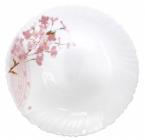 Набор 6 десертных тарелок Ветка Сакуры Ø19см, стеклокерамика
