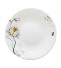 Десертная тарелка Серебряный цветок Ø19см, стеклокерамика
