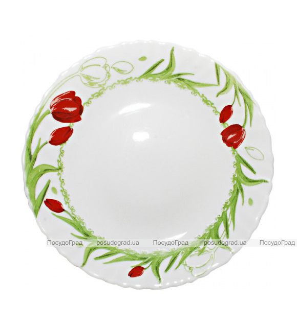 "Набор 6 десертных тарелок ""Тюльпан"" Ø19см, стеклокерамика"