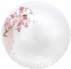 "Набор 6 обеденных тарелок ""Ветка Сакуры"" Ø24см, стеклокерамика"