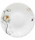 "Набір 6 обідніх тарілок ""Срібна квітка"" Ø24см, склокераміка"
