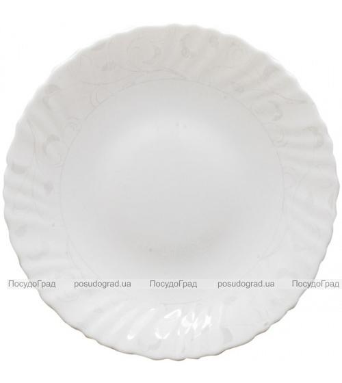 """Набор 6 обеденных тарелок """"Глазурь"""" Ø24см, стеклокерамика"""