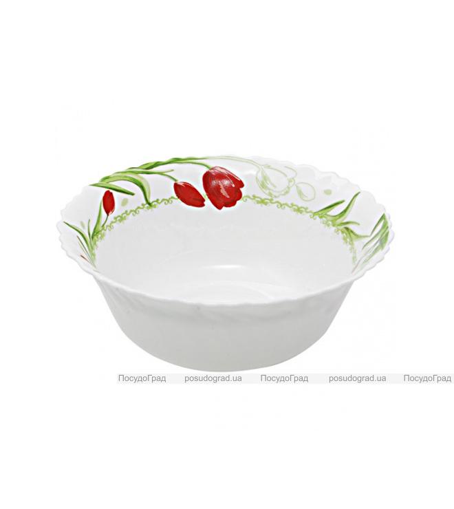"Набор 6 салатников ""Тюльпан"" Ø15см, стеклокерамика"
