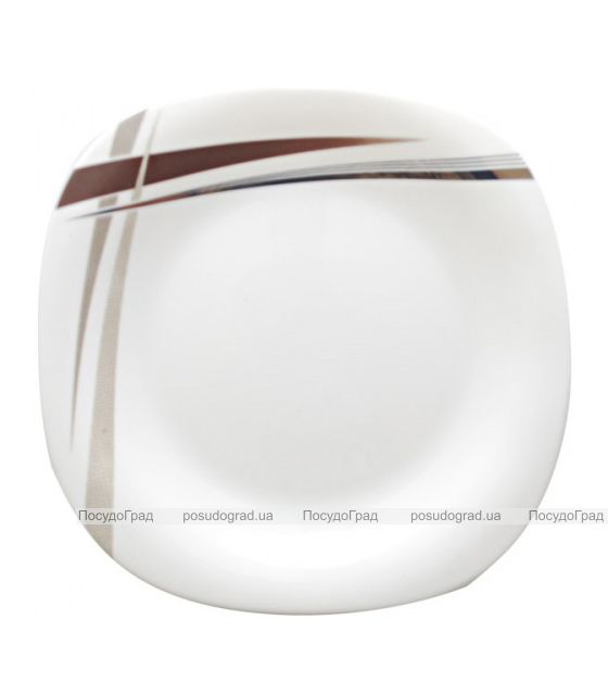 "Обеденная тарелка ""Элеганс"" Ø22см, стеклокерамика"