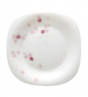 "Набор 6 обеденных тарелок ""Цветы сакуры"" Ø22см, стеклокерамика"