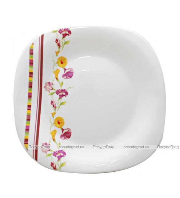 """Набор 6 обеденных тарелок """"Вьюнок"""" Ø22см, стеклокерамика"""