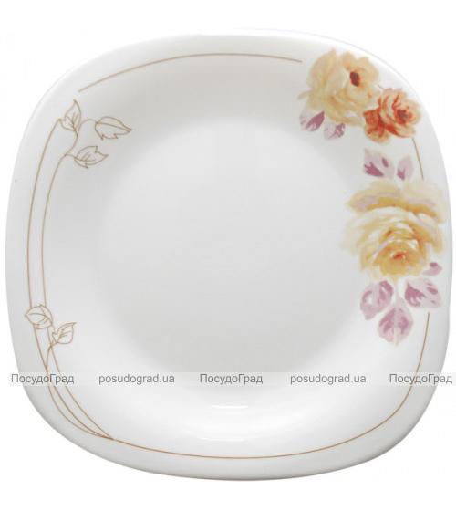 """Набор 6 подставных тарелок """"Кремовая роза"""" Ø29см, стеклокерамика"""
