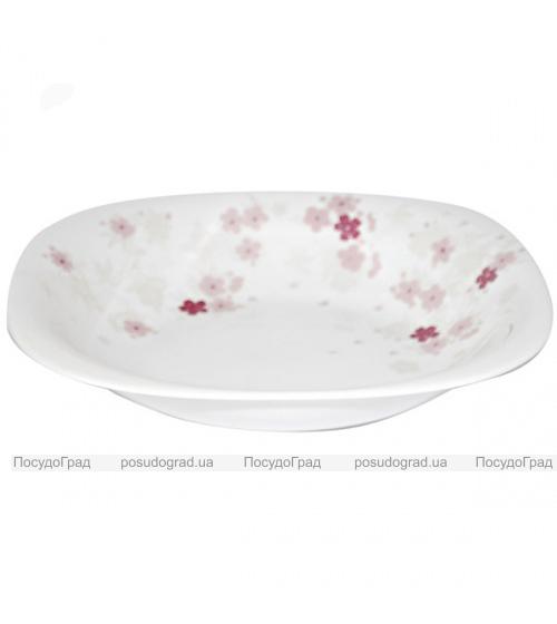 """Набор 6 тарелок для первого """"Цветы сакуры"""" Ø23см, стеклокерамика"""