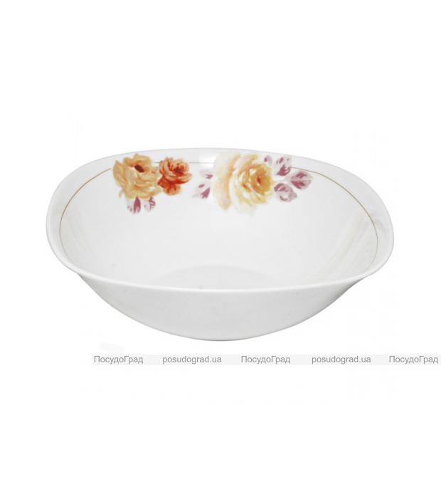 """Пиала (салатница) """"Кремовая роза"""" Ø12.5см, стеклокерамика"""