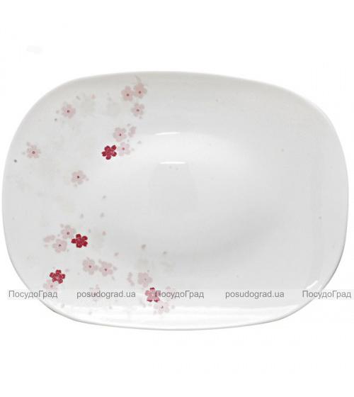 "Блюдо ""Цветы сакуры"" 30см, стеклокерамика"