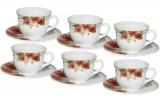 "Набір чашок для чаю ""Роза"" 190мл на 6 персон"