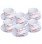 """Набір чашок для чаю """"Японська Вишня"""" 190мл на 6 персон"""