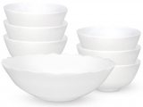 Набор White Waves большой салатник 1л и 6 салатников 260мл, стеклокерамика