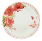 """Набір 6 десертних тарілок """"Троянда"""" Ø17.5см, склокераміка"""