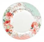 """Набор 6 десертных тарелок """"Версаль Розы"""" Ø17.5см, стеклокерамика"""