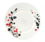 """Набор 6 десертных тарелок """"Красное и черное"""" Ø17.5см, стеклокерамика"""