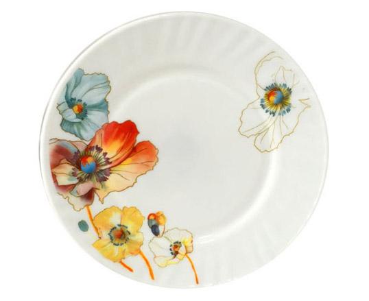 """Набор 6 десертных тарелок """"Радужный мак"""" Ø17.5см, стеклокерамика"""