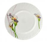 Набор 6 десертных тарелок Каллы Ø17.5см, стеклокерамика