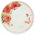"""Набор 6 мелких тарелок """"Роза"""" Ø20см, стеклокерамика"""