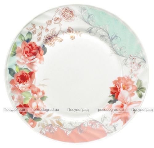 """Набір 6 десертних тарілок """"Версаль Троянди"""" Ø20.5см, склокераміка"""