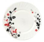 Набор 6 мелких тарелок Красное и черное Ø20см