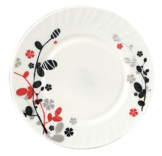"""Набор 6 мелких тарелок """"Красное и черное"""" Ø20см"""