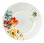 """Набор 6 мелких тарелок """"Радужный мак"""" Ø20см, стеклокерамика"""