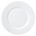 Набор 6 десертных тарелок Infinite Tenderness Волна белые Ø20.5см, стеклокерамика