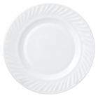 Набір 6 десертних тарілок Infinite Tenderness Хвиля білі Ø20.5см, склокераміка