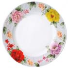 """Набор 6 тарелок обеденных """"Шиповник"""" Ø20.5см, стеклокерамика"""