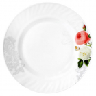 "Набір 6 тарілок обідніх ""Троянда-Бутік"" Ø20.5см, склокераміка"