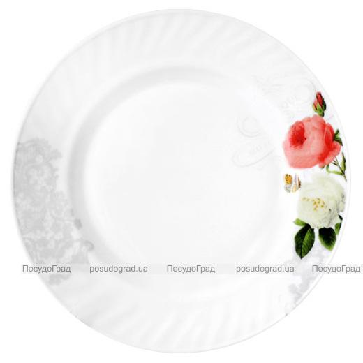 "Набор 6 тарелок обеденных ""Роза-Бутик"" Ø20.5см, стеклокерамика"