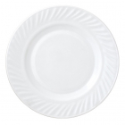 Набір 6 десертних тарілок Infinite Tenderness Хвиля білі Ø17.5см, склокераміка