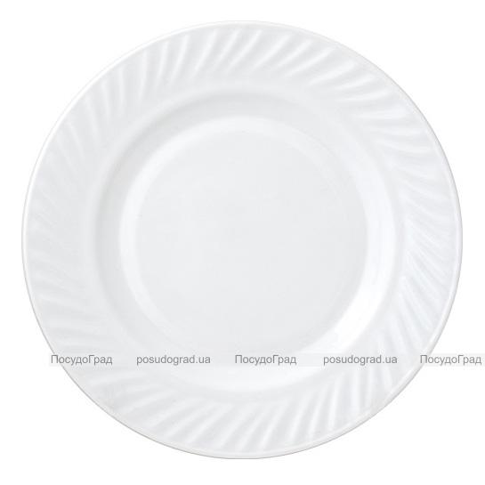 Набор 6 десертных тарелок Infinite Tenderness Волна белые Ø17.5см, стеклокерамика