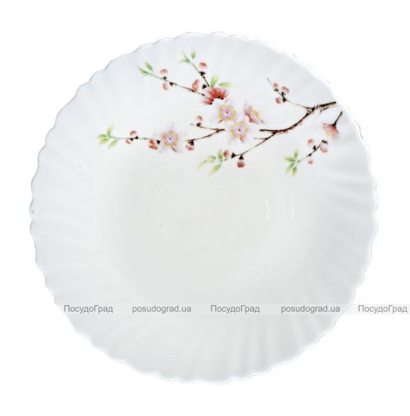 """Набор 6 десертных тарелок """"Японская Вишня"""" Ø19см, стеклокерамика"""