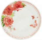 """Набір 6 обідніх тарілок """"Троянда"""" Ø22.5см, склокераміка"""